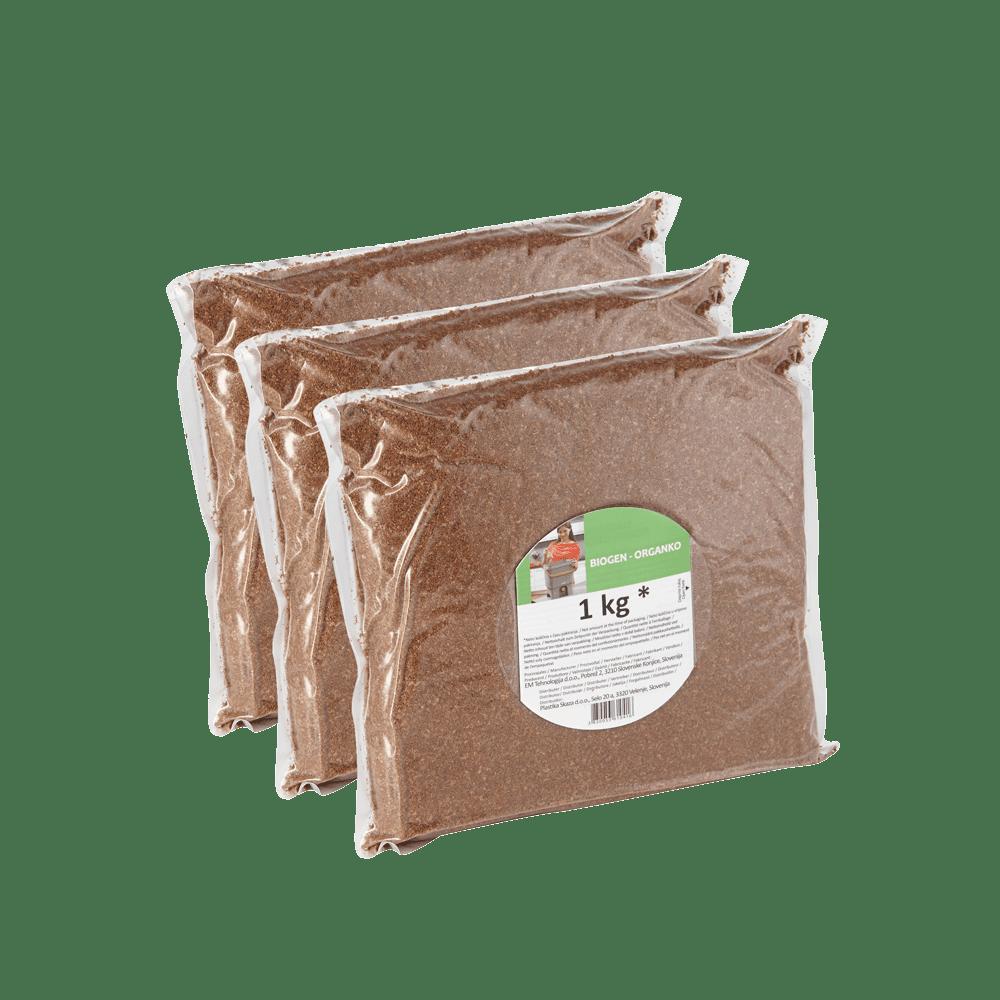 Bokashi bran (3 x 1 kg) Biogen for fermentation process